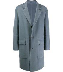 ami paris unstructured coat - blue