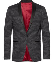 knitted camo tuxedo blazer blazer colbert zwart lindbergh