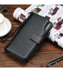 billetera larga para hombres baellerry a5m cartera-negro