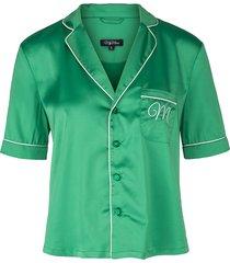 green amy sateen pajamas
