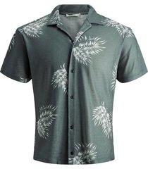 overhemd met korte mouwen botanische print