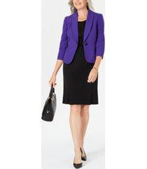 le suit one-button skirt suit
