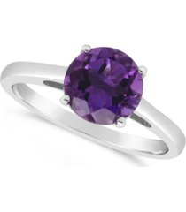 amethyst (1-3/4 ct. t.w.) ring in sterling silver. also available in sky blue topaz (2-3/8 ct. t.w.) and rose quartz (1-9/10 ct. t.w.)