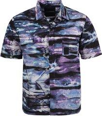 x nick farhi tie-dye glitch short sleeve shirt