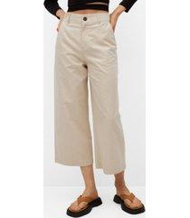 mango cotton culotte trousers
