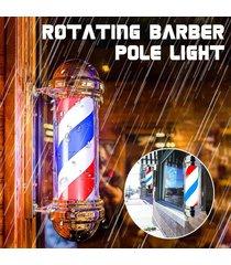 barber shop polo rojo blanco azul que giran rayas leves inscripción hair salon nueva enchufe de la ue - normativa europea (220v)