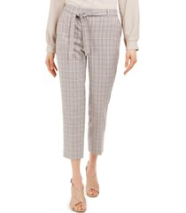 calvin klein x-fit plaid tie-belted slim fit pants