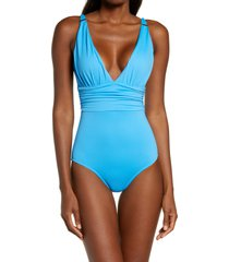 melissa odabash panarea one-piece swimsuit, size 8 in azure at nordstrom
