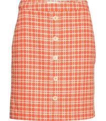 nanja skirt kort kjol orange minus