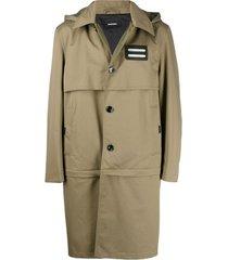 diesel trench coat - verde