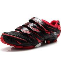 zapatillas ciclismo tiebao negro/rojo mtb