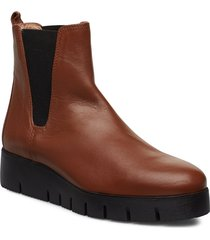frisa_na shoes boots ankle boots ankle boots flat heel brun unisa