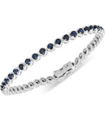 sapphire tennis bracelet (6 ct. t.w.) in sterling silver (also available in emerald)