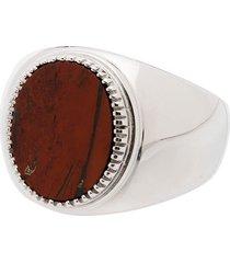 o thongthai jasper signet ring - silver