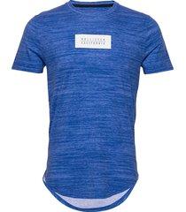 ombre box print logo t-shirts short-sleeved blå hollister