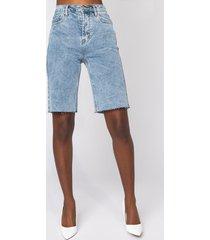 akira delia denim bermuda shorts