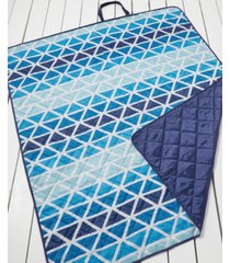 martha stewart collection ombre triangle beach blanket, created for macy's bedding