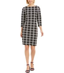 charter club petite plaid sheath dress, created for macy's