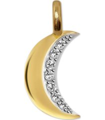 alex woo diamond mini moon charm pendant (1/10 ct. t.w.) in 14k gold