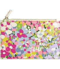 floral dot 6-piece pencil pouch set