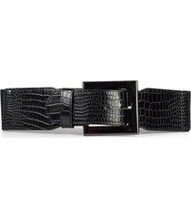 cinturón elástico hebilla pasador negro mailea