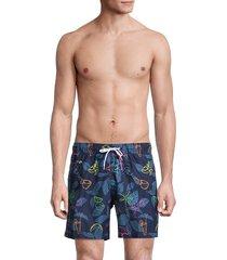 trunks surf + swim men's sana tropical-print swim shorts - marine - size xxl