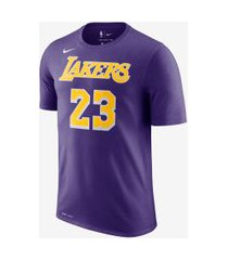 camiseta lebron james los angeles lakers nike dri-fit masculina