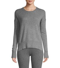 high-low cashmere sweater