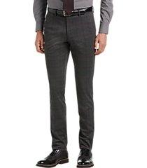 suitor charcoal plaid slim fit suit separate knit dress pant