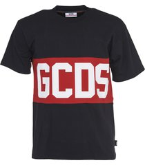 gcds black logo t-shirt