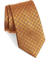 men's nordstrom neat silk tie, size regular - orange