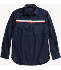 tommy hilfiger men's adaptive custom fit icon stripe shirt peacoat - s