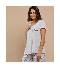 pijama marisa bolinhas manga curta marisa feminino