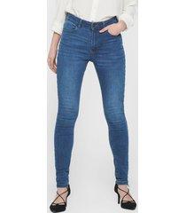 jeans jacqueline de yong skinny azul - calce ajustado