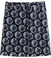 blommig kjol i kort, utställd modell