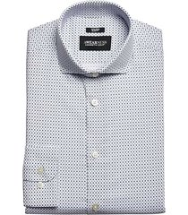 awearness kenneth cole men's slim fit dress shirt navy print - size: 16 1/2 34/35
