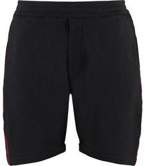 alexander mcqueen logoed side bands shorts