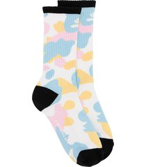 a bathing ape® camouflage-print mid-calf socks - multicolour