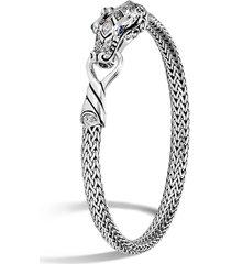 legends naga' diamond sapphire silver woven chain bracelet