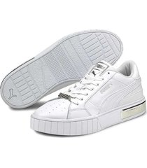 tenis - lifestyle - puma  cali star metallic - blanco - ref : 38021901
