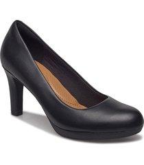 adriel viola shoes heels pumps classic svart clarks