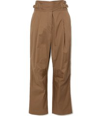 ladybeetle buckled cotton-twill tapered pants