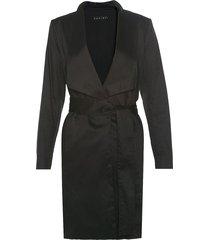 abrigo en dril negro varini