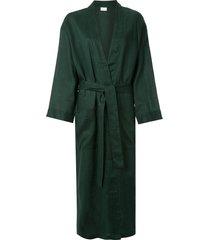 pour les femmes tie waist robe - green