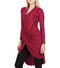women's savi mom nara maternity/nursing cardigan, size large - burgundy