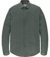 cast iron csi206618 6147 long sleeve shirt print on poplin stretch green