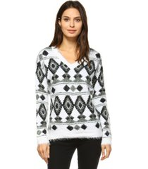 white mark women's traditional sweater
