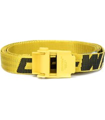 off-white mini 2.0 industrial belt yellow black