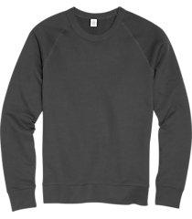 alternative apparel dark gray modern fit terry sweatshirt