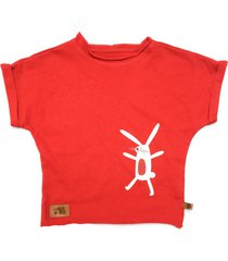 t-shirt easter bunny red